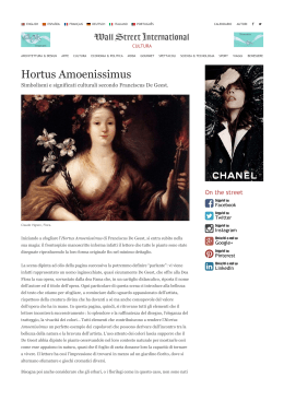 Hortus Amoenissimus - Wall Street International - Aboca E-Shop