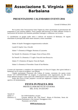 guarda il programma - Barbaiana