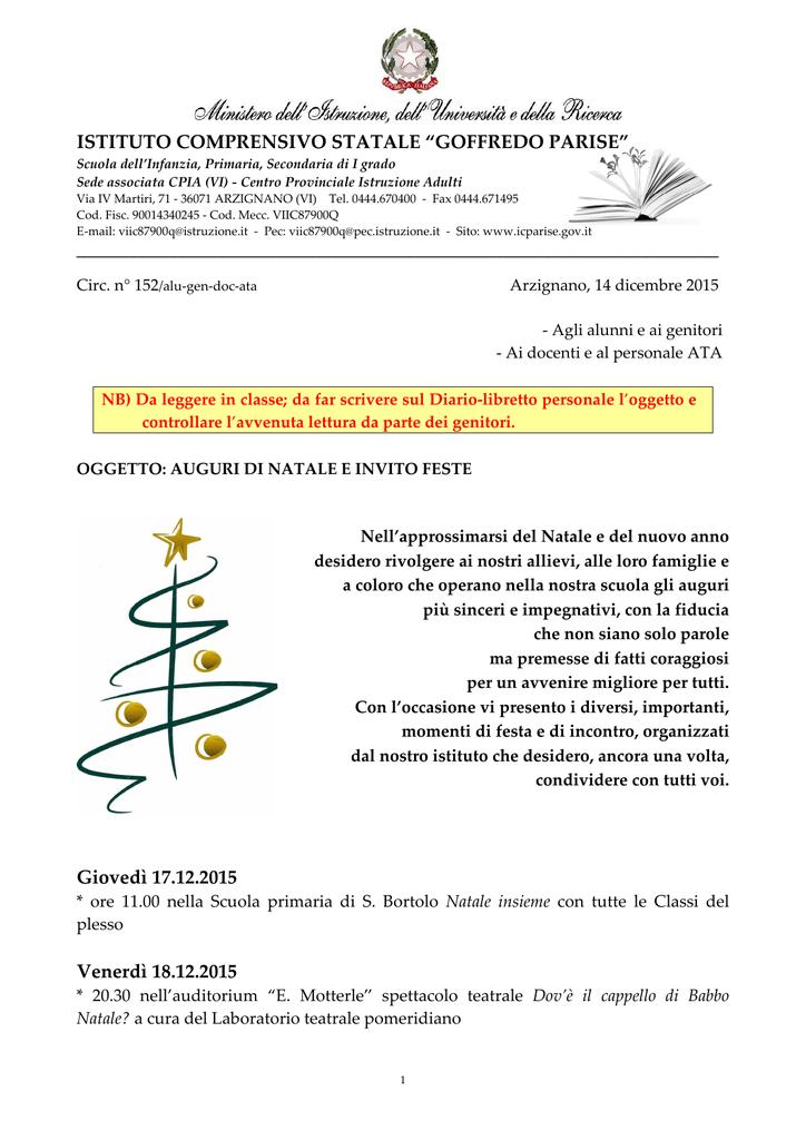 152 Auguri Di Natale E Invito Feste