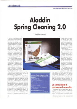 Aladdin Spring Cleaning 2.0