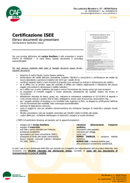 documenti_ise - Cisl FP Roma Capitale