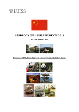 handbook cfau luiss students 2014