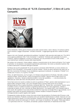 "Una lettura critica di ""ILVA Connection"", il libro di"