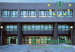 International Guide - Facoltà di Economia