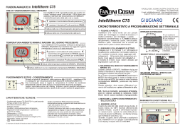 Istruzioni c56 logo fantini cosmi for Fantini cosmi intellitherm c55