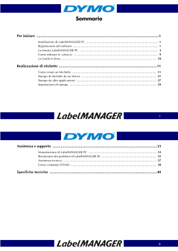 Installazione di LabelMANAGER PC