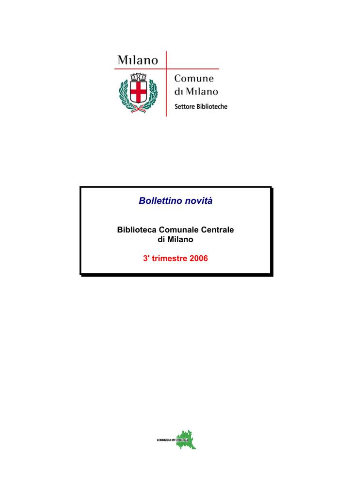 Bollettino novità - Biblioteche Regione Lombardia 3b5bddc554b7