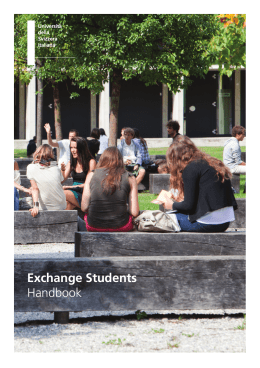 Exchange Students Handbook - USI
