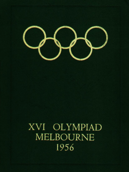 1956 Melbourne Olympic Games Official Report