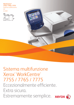 Sistema multifunzione Xerox® WorkCentre® 7755