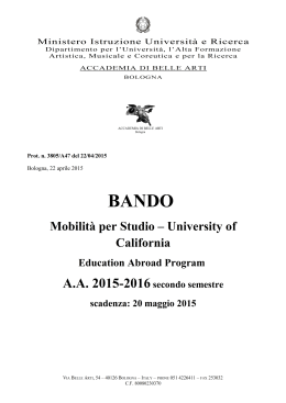 Bando University of California 2015-16