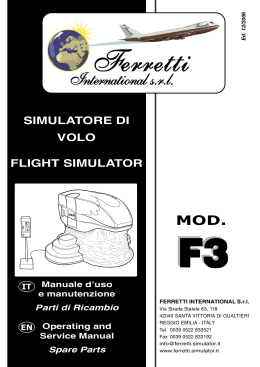 simulatore di volo flight simulator