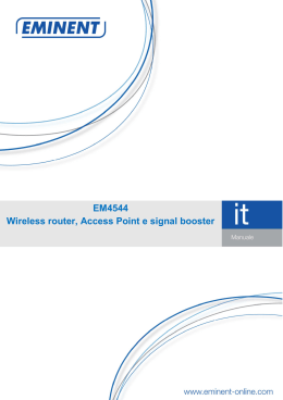 EM4544 Wireless router, Access Point e signal booster