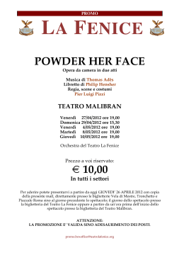 Promo POWDER stud - Università Iuav di Venezia