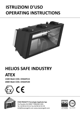 istruzioni d`uso operating instructions helios safe industry atex