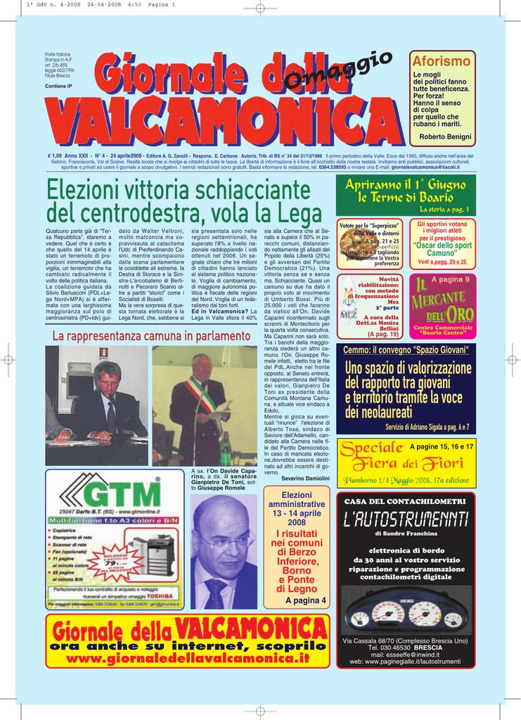 GdV n. 4 del 2008 giornale valcamonica