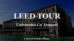 LEED TOUR - Università Ca` Foscari di Venezia