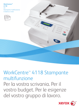 WorkCentre 4118 Brochure