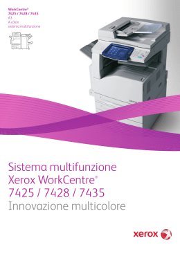 Sistema multifunzione Xerox WorkCentre® 7425 / 7428