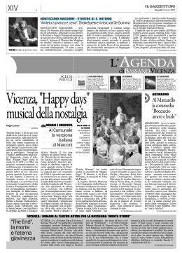 "Vicenza,""Happydays"" musicaldellanostalgia"