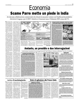 Scame Parre mette un piede in India
