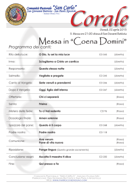 "Messa in ""Coena Domini"""