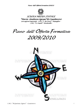 Piano dell` Offerta Formativa - ComprensivoCasatenovo.gov.it