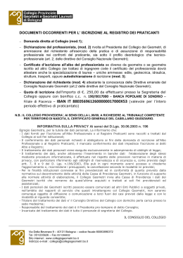 carta intestata - Collegio Geometri