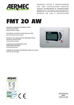 electronic control panel fmt 20 aw for fan coils aermec