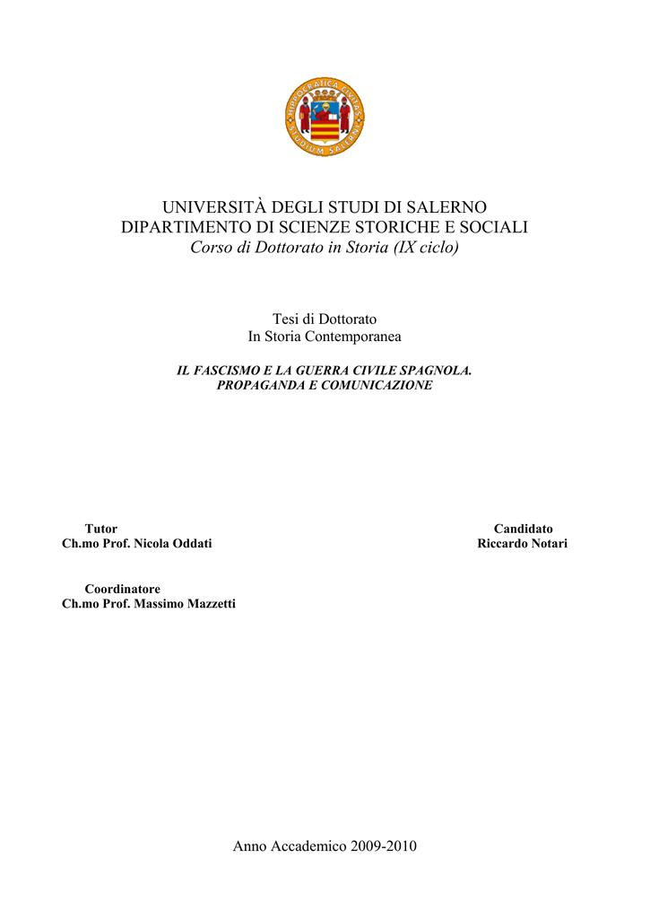 UNIVERSITÀ DEGLI STUDI DI SALERNO DIPARTIMENTO DI 38ca1fce7044