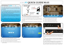 QUICK GUIDE Wi-Fi - Candy simply-Fi