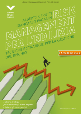 Risk management per l`edilizia