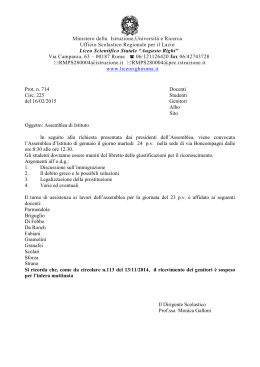 Circ. 225_assemblea - Liceo Scientifico Statale A. Righi