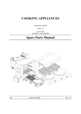 COOKING APPLIANCES Spare Parts Manual