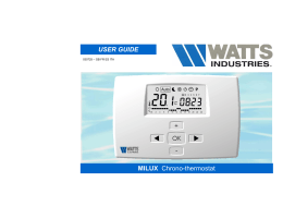 MILUX Chrono-thermostat USER GUIDE