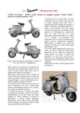 150 Sprint del 1965 - Vespa Club San Vincenzo