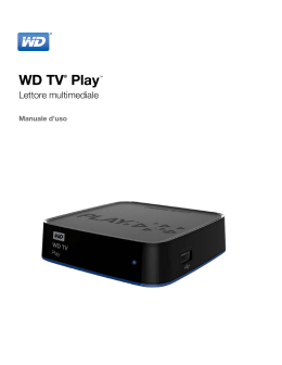 WD TV Play Media Player User Manual