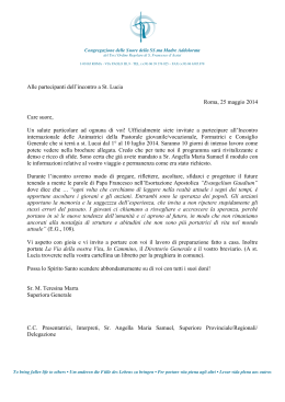 Letter to partecipants of May 25 ITA sf