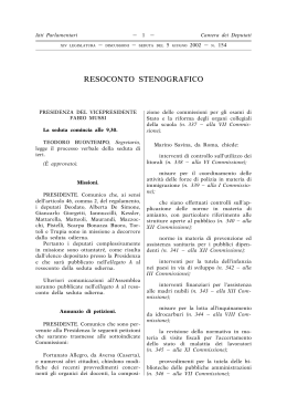 resoconto stenografico - Legislature precedenti