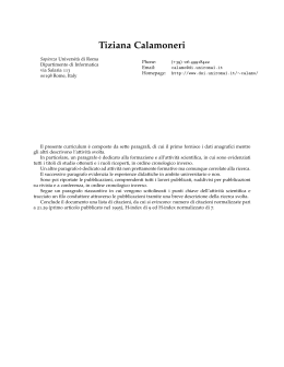 Updated CV (in Italian) and list of citations