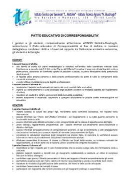 PATTO EDUCATIVO DI CORRESPONSABILITA`