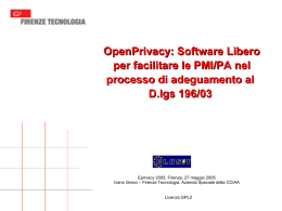 Firenze: EPrivacy 2005