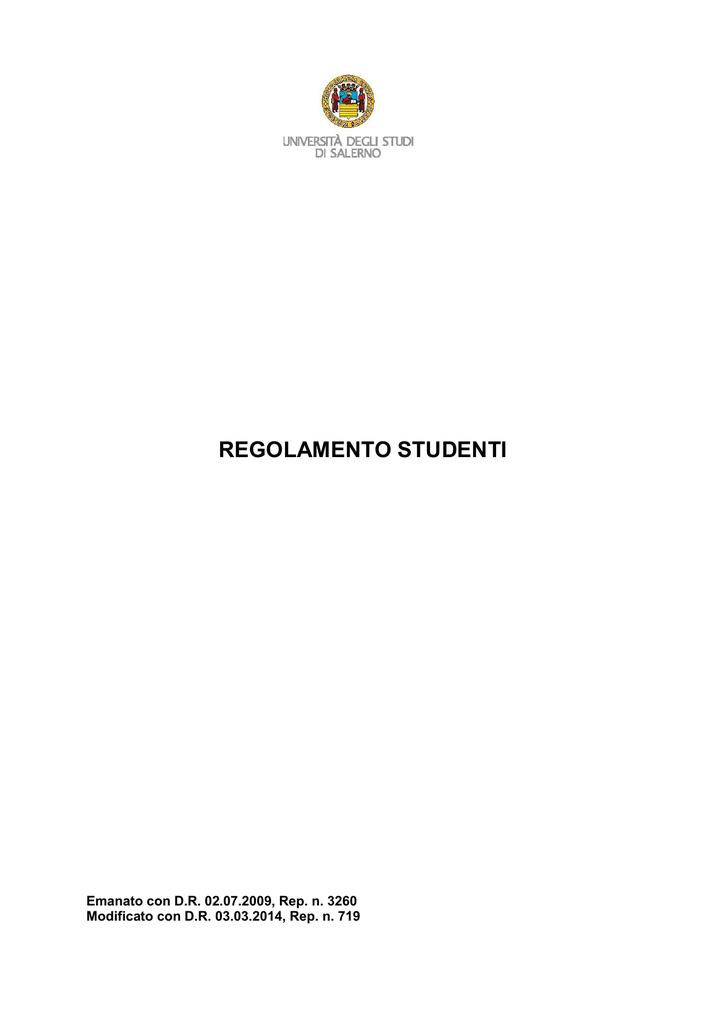 Unisa Calendario Esami.Regolamento Studenti Unisa Universita Degli Studi Di Salerno