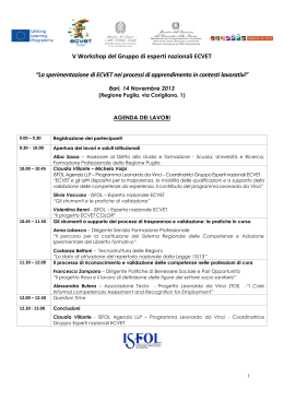 Agenda_workshop_ ECVET_Bari__14 Novembre 2013