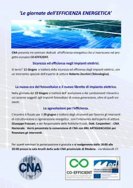 `Le giornate dell`EFFICIENZA ENERGETICA`
