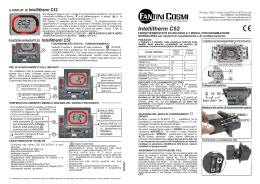 Istruzioni c 46a for Fantini cosmi intellitherm c55