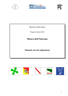 Manuale sul risk adjustment