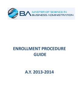 enrollment procedure guide ay 2013-2014