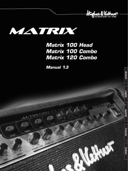 Matrix 100 Head Matrix 100 Combo Matrix 120 Combo