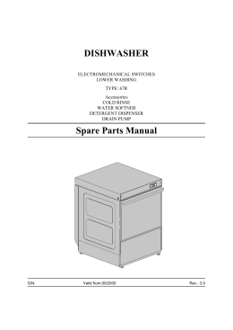 DISHWASHER Spare Parts Manual